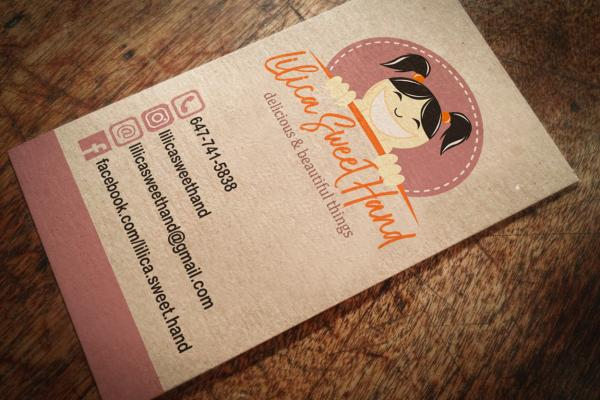 Logo - Business Card - Lilica Sweet Hand