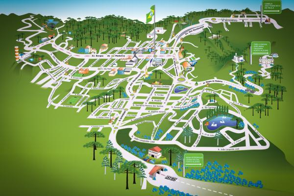 Map of Gramado - RS - Brazil